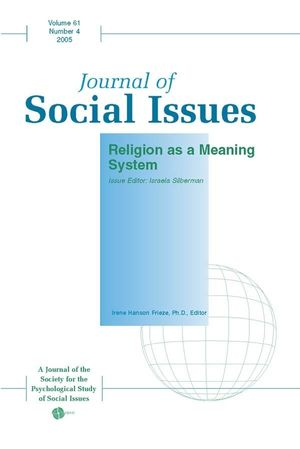 Religion as a Meaning System (1405152648) cover image