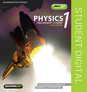 Physics 1 Preliminary Course and eBookPLUS (Online Purchase), 3rd Edition (1742164048) cover image
