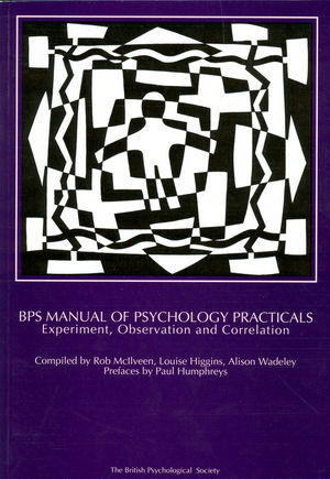 BPS Manual of Psychology Practicals: Experiment, Observation and Correlation (1854330748) cover image