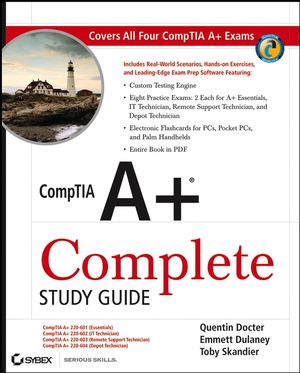 CompTIA A+ Complete Study Guide: Exams 220-601 / 602 / 603 / 604 (0470114649) cover image