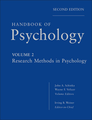 Handbook of Psychology, Volume 2, Research Methods in Psychology, 2nd Edition (0470890649) cover image