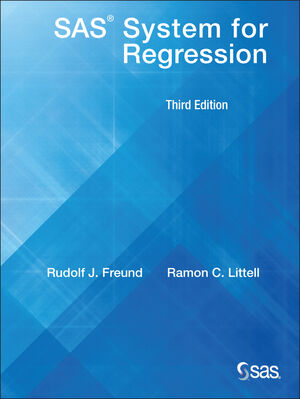 SAS System for Regression, 3rd Edition (0471416649) cover image