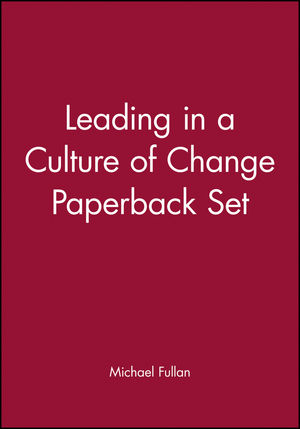 Leading in a Culture of Change Paperback Set (0787997749) cover image