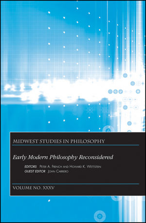 Early Modern Philosophy Reconsidered, Volume XXXV (1118298349) cover image
