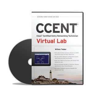 CCENT Cisco Certified Entry Networking Technician Virtual Lab (ICND1 Exam 640-822) (1118435249) cover image