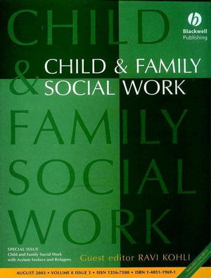 Child and Family Social Work with Asylum Seekers and Refugees: CFS Special Issue (047069324X) cover image