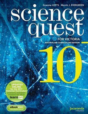 Science Quest 10 Australian Curriculum Victorian Edition & EbookPlus
