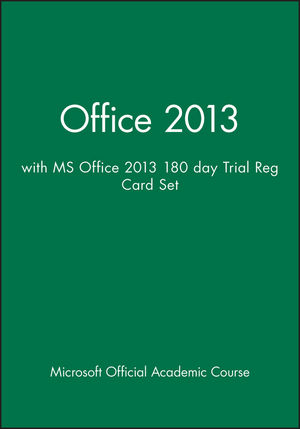 Office 2013 with MS Office 2013 180 day Trial Reg Card Set