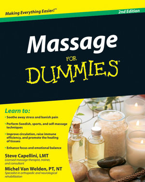 Massage For Dummies, 2nd Edition (0470642750) cover image