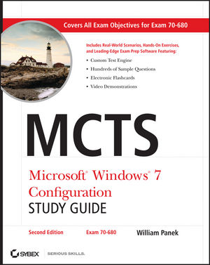 MCTS Microsoft Windows 7 Configuration Study Guide: Exam 70-680, Study Guide, 2nd Edition (0470948450) cover image