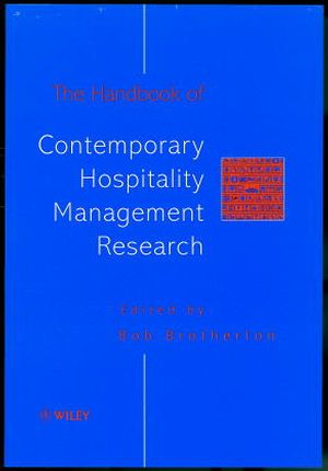 The Handbook of Contemporary Hospitality Management Research (0471983950) cover image