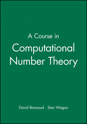 A Course in Computational Number Theory (0470412151) cover image