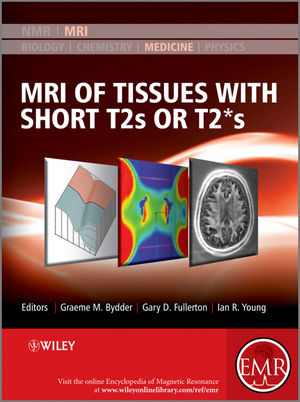 MRI of Tissues with Short T2s or T2*s (0470688351) cover image