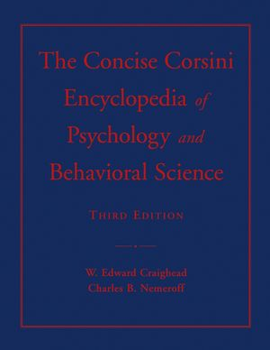 The Concise Corsini Encyclopedia of Psychology and Behavioral Science, 3rd Edition (0471604151) cover image