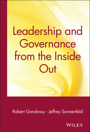 Leadership and Governance from the Inside Out (0471671851) cover image