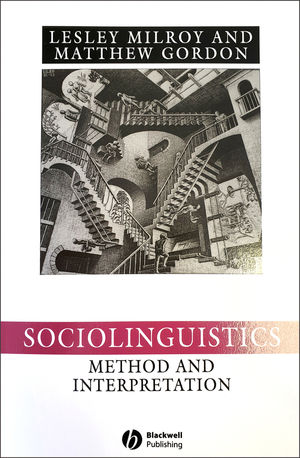 Sociolinguistics: Method and Interpretation, 2nd Edition (0631222251) cover image