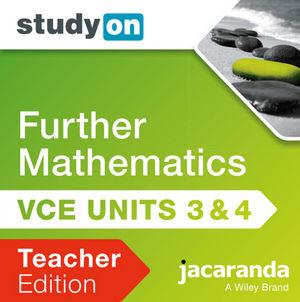 StudyOn VCE Further Mathematics Units 3 & 4 2E Teacher Edition (Online Purchase)