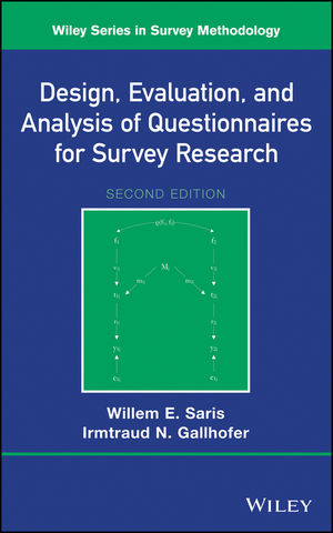 Design, Evaluation, and Analysis of Questionnaires for Survey Research, 2nd Edition (1118634551) cover image