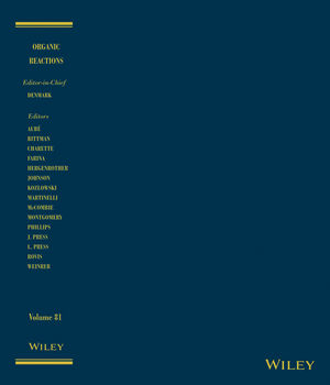 Organic Reactions, Volume 81 (1118674251) cover image