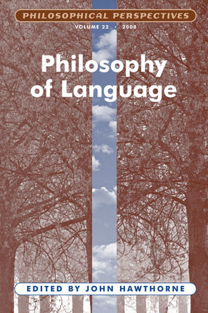 Philosophy of Language, Volume 22