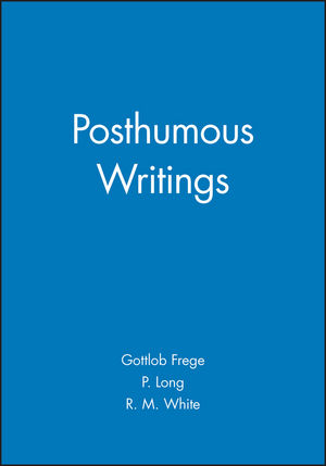 Posthumous Writings (0631128352) cover image