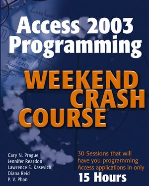 Access 2003 Programming Weekend Crash Course (0764539752) cover image