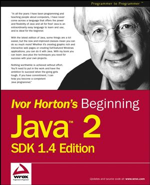 Beginning Java 2, SDK 1.4 Edition (0764543652) cover image