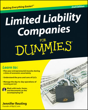 Limited Liability Companies For Dummies, 2nd Edition (1118006852) cover image