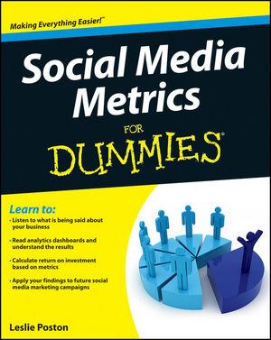 Book Cover Image for Social Media Metrics For Dummies