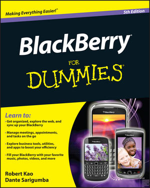BlackBerry For Dummies, 5th Edition (1118100352) cover image
