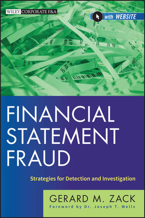 Financial Statement Fraud: Strategies for Detection and Investigation (1118301552) cover image