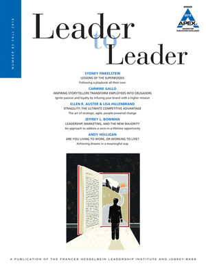 Leader to Leader (LTL), Volume 82, Fall 2016