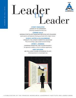 Leader to Leader (LTL), Volume 82, Fall 2016 (1119296552) cover image