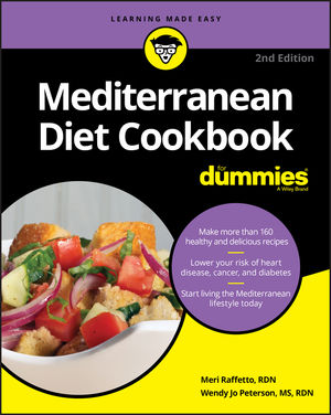 Mediterranean Diet Cookbook For Dummies, 2nd Edition (1119404452) cover image