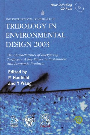 Tribology in Environmental Design 2003 (1860584152) cover image