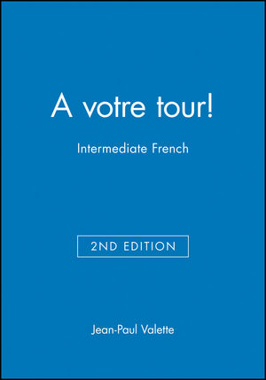 A votre tour!: Intermediate French, Testing Audio CD-ROM, 2nd Edition