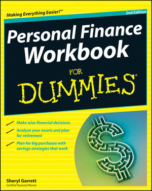Personal Finance Workbook For Dummies, 2nd Edition (1118106253) cover image