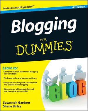 Blogging For Dummies, 4th Edition (1118239253) cover image