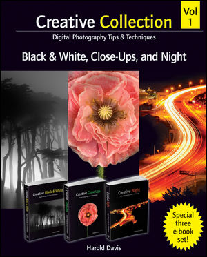 Creative Collection , Digital Photography Tips and Techniques, Volume 1, Black and White, Close-Ups, and Night (1118376153) cover image