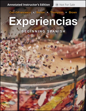 Experiencias: Intermediate Spanish, Annotated Instructor's Edition