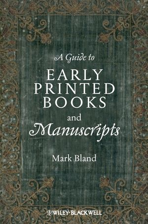 A Guide to Early Printed Books and Manuscripts (1118492153) cover image