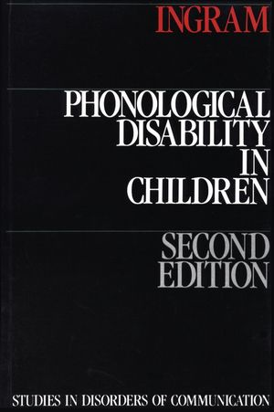 Phonological Disability in Children, 2nd Edition