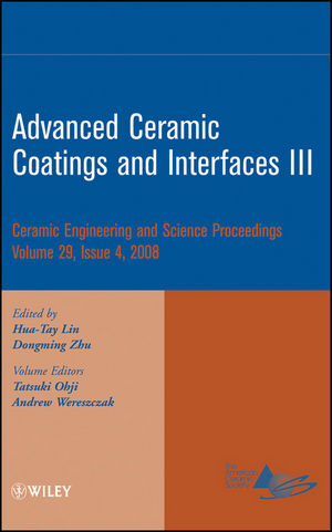 Advanced Ceramic Coatings and Interfaces III, Volume 29, Issue 4 (0470344954) cover image