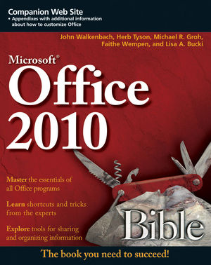 Office 2010 Bible (0470591854) cover image