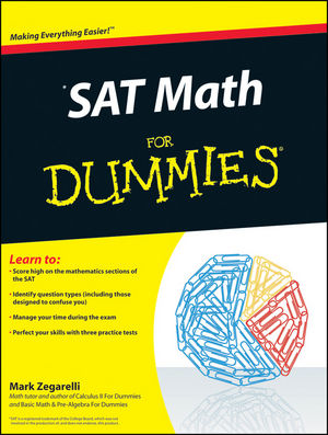 SAT Math For Dummies (0470620854) cover image