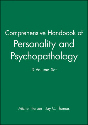 Comprehensive Handbook of Personality and Psychopathology , 3 Volume Set (0471479454) cover image