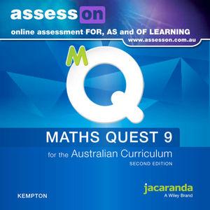 Assesson Maths Quest 9 For The Australian Curriculum 2E (Online Purchase)
