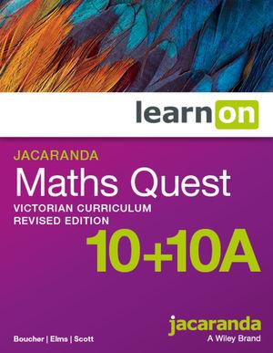 Jacaranda Maths Quest 10 + 10A Victorian Curriculum LearnOn (Online Purchase)