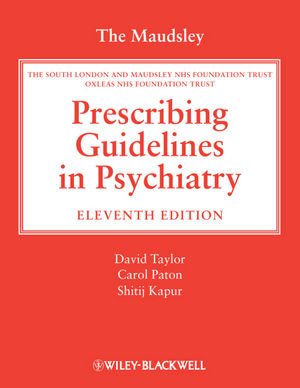 The Maudsley Prescribing Guidelines in Psychiatry, 11th Edition (1118323254) cover image