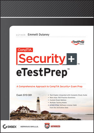 CompTIA Security+ eTestPrep (SY0-301) Downloadable Version (1118353854) cover image